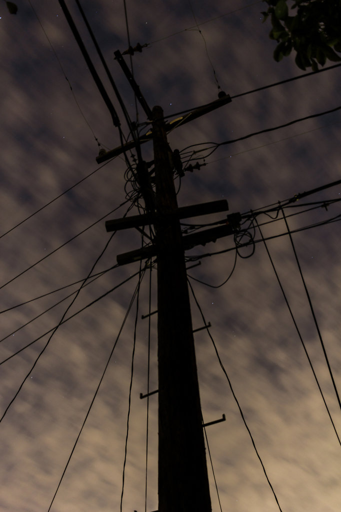 Backyard Electricity Pole